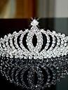 Bergkristall / Legering Tiaras / pannband / Huvudbonad med Blomma 1st Bröllop / Speciellt Tillfälle Hårbonad