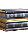träförvaring bok form förvaringslåda för smycken makeup kosmetik arrangör