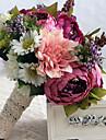 """Flori de Nuntă Formă liberă Trandafiri Bujori Buchete Nuntă Satin 10.24""""(Approx.26cm)"""