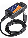 linii de defect auto instrument de diagnostic ELM327 OBD2 conducere cablu USB calculator