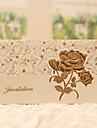 Împăturit în 3 Invitatii de nunta 50-Invitații Stil Clasic Stil Floral Hârtie Perlă