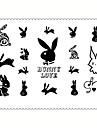 Tatouages Autocollants Series bijoux Series animales Series de fleur Series de totem Autres Dessins Animes Non Toxique Motif Impermeable