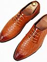 Bărbați Pantofi PU Primăvară Toamnă Pantofi formale Oxfords Pentru Casual Party & Seară Alb Negru Galben Rosu