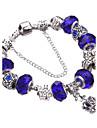 Pentru femei Dame Brățări cu Talismane Brățări Bangle Bratari Strand Silver Bracelets Cristal Adorabil Ștrasuri European Durabil La modă
