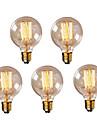 5pcs g95 e27 40w lampă vintage edison bulb retro bec bec incandescent (220-240v)