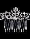 perla de cristal strasuri de par aliat pieptene stilul elegant