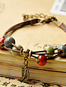 Dam vävstol Armband folk Style Handgjord Mode Pärlbeklädd Keramisk Tyg Rund Geometrisk Smycken Dagligen Casual Kostymsmycken