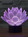 floare de lotus tactil dimmer 3d a condus lumina de noapte 7colorful decorare lampă atmosferă de iluminat noutate lumina de Crăciun