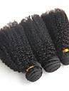 Brasilianskt hår Curly Weave Afro Sexigt Lockigt Hårförlängning av äkta hår 3 delar 3 delar 0.3