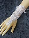 Dantelă Lungime Încheietură Mănușă Mănuși de Mireasă With Piatră Semiprețioasă Mărgele Perle