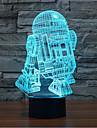 Robot tactil de reducere a intensității 3d a condus lumina de noapte 7colorful decorare lampă atmosferă de iluminat noutate lumina de