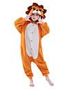 Kigurumi Pijamale Leu Onesie Pijamale Costume Lână polară Portocaliu Cosplay Pentru Copil Sleepwear Pentru Animale Desen animat Halloween