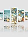 Peisaj Modern, Cinci Panouri pânză Vertical Imprimeu Decor de perete Pagina de decorare