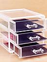 Rangement pour Maquillage Boîte de maquillage Rangement pour Maquillage Plastique Acrylique Couleur Pleine 15x12x10.8 Transparents