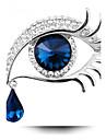 Pentru femei Broșe - Cristal Personalizat, Modă Broșă Albastru / Auriu / Negru / Auriu / Albastru Pentru Petrecere / Zilnic / Casual