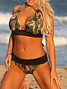 Pentru femei Mărime Plus Size Bikini - Imprimeu, camuflaj Halter Cheeky