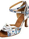 Femme Chaussures Latines / Chaussures de Salsa Satin Sandale / Talon Interieur / Entrainement Boucle / Fleur Talon Personnalise