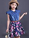 Fata lui Albastru / Multi Color Imprimeu Casul/Zilnic Altele Vară Albastru / Multi Color