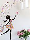 Autocollants muraux decoratifs - Autocollants avion Bande dessinee Chambre de garcon / Chambre de fille / Magasins / Cafes / Amovible