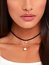 Pentru femei Coliere Choker tatuaj cravată Circle Shape Perle Material Textil Diamante Artificiale Design Basic Stil Tatuaj European La