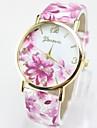 Geneva Pentru femei Quartz Ceas de Mână / cald Vânzare Piele Bandă Floare Casual Modă Multicolor