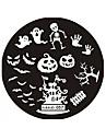 halloween design runda rostfritt stål spikplåtar