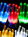 1pair belysning ledde handskar glöd färgstarka skelett handskar för fest dekorationer dans självlysande leksaker