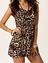 leopard print rochie bodycon causual moda pentru femei Weina lui