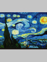 Starry Night c1889 de Vincent Van Gogh Famous întins Canvas Print