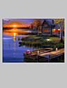 Toile Tendue LED Paysage Un Panneau Format Vertical Imprime Decoration murale Decoration d\'interieur
