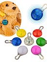Chat Chien Etiquettes Etanche Lampe LED Securite Solide Rouge Blanc Vert Bleu Incanardin Jaune Orange Plastique