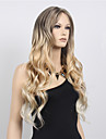 Synthetische Peruecken Wellen Blond Asymmetrischer Haarschnitt Blond Synthetische Haare Damen Modisches Design Blond Peruecke Lang Kappenlos
