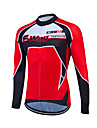Fastcute Men\'s Women\'s Long Sleeve Cycling Jersey Plus Size Bike Sweatshirt Jersey Top Breathable Quick Dry Reflective Strips Sports Coolmax® 100% Polyester Mountain Bike MTB Road Bike Cycling