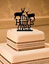 Cake Topper Classic Theme Monogram Acrylic Wedding with Flower 1 Gift Box