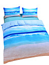 Duvet Cover Sets 3D Poly / Cotton Reactive Print 3 PieceBedding Sets / 200 / 3pcs (1 Duvet Cover, 2 Shams)