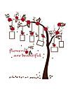 Modă Florale Botanic Perete Postituri Autocolante perete plane Autocolante de Perete Decorative Autocolante foto Pagina de decorare de