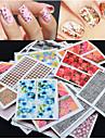 50 pcs Fleur / Mode Bijoux a ongles / Autocollants 3D pour ongles Quotidien / PVC