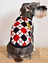 Katt Hund T-shirt Hundkläder Pläd/Rutig Grå Gul Röd Flanelltyg Kostym För husdjur Herr Dam Ledigt/vardag Mode