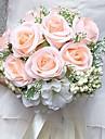 """Flori de Nuntă Rotund Trandafiri Buchete Nuntă Petrecere / Seară Satin 9.84""""(Approx.25cm)"""