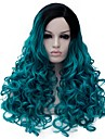 Парики из искусственных волос Синий Синий Искусственные волосы Жен. Синий Парик Средние Без шапочки-основы