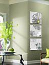 Landskap Blommig/Botanisk Moderna, Tre paneler Duk Fyrkantig Tryck väggdekor Hem-dekoration