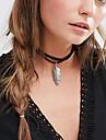 Dame Coliere Choker tatuaj cravată Aliaj Pană Stil Tatuaj La modă stil minimalist Alb Negru Maro Bijuterii Nuntă Petrecere Zilnic Casual1