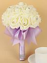 """Flori de Nuntă Rotund Trandafiri Buchete Nuntă Petrecere / Seară Satin Spumă 7.87""""(Approx.20cm)"""