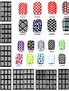 1 3D Nail Stickers Matte Mode Dagligen Hög kvalitet