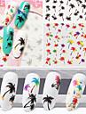 1 pcs Adesivo de transferencia de agua arte de unha Manicure e pedicure Fashion Diario