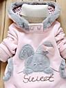 Fete Bluză Mată Bumbac Zilnic Iarnă Primăvară Toamnă Manșon Lung Gri Roz