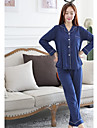 Pentru femei În V Pijamale - Imprimeu, Buline