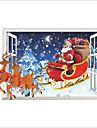 Oameni Crăciun #D Perete Postituri Autocolante perete plane 3D Acțibilduri de Perete Autocolante de Perete Decorative Pagina de decorare