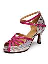Pentru femei Pantofi Dans Latin Piele Sandale Interior / Performanță / Profesional Imprimeu Animal Toc Îndesat Personalizabili Pantofi de
