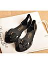 Damă Pantofi Cauciuc Vară Confortabili Sandale Toc Drept Funde Pentru Casual Negru Migdală